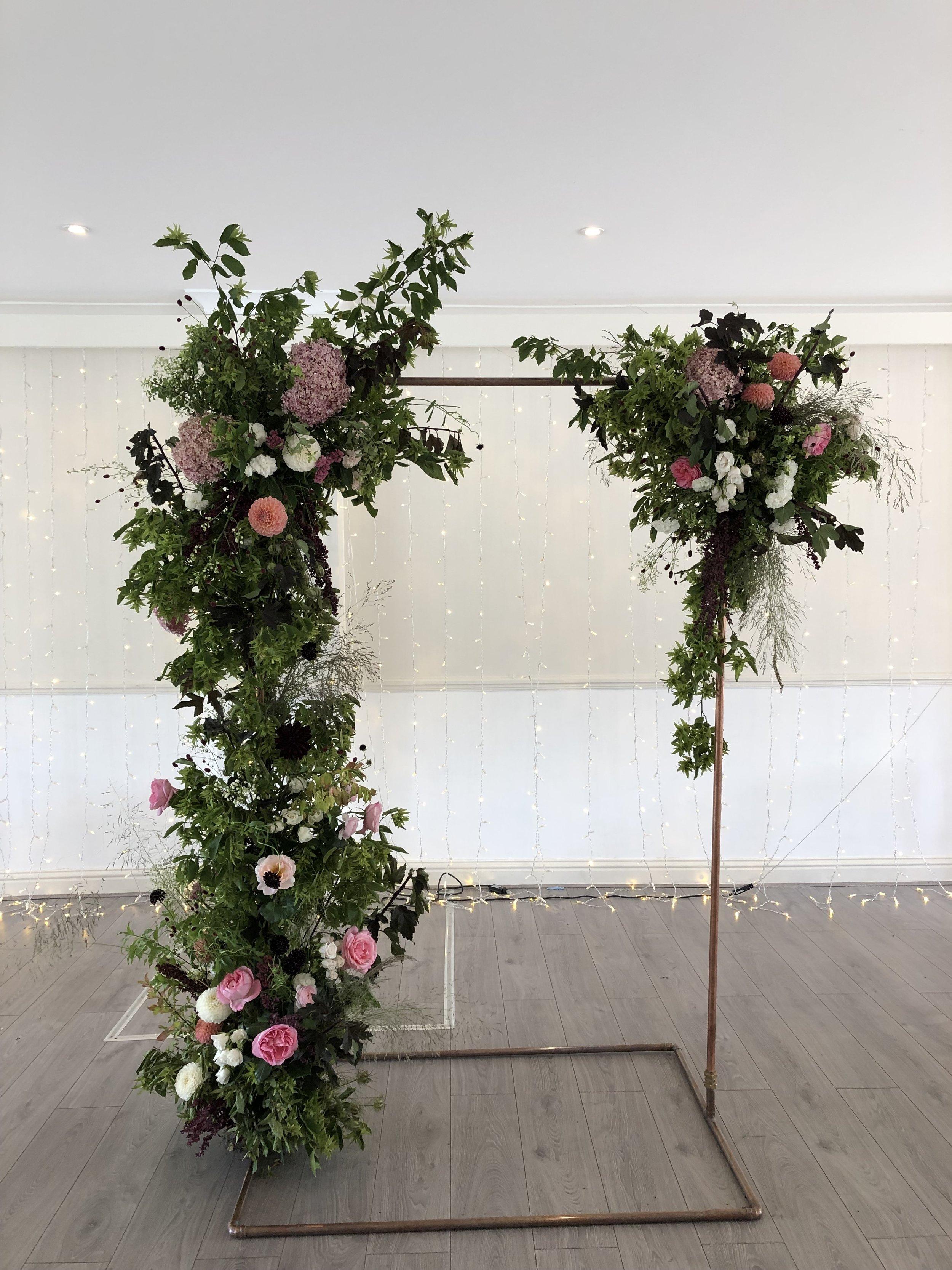 Kingston wedding flowers, floral arch