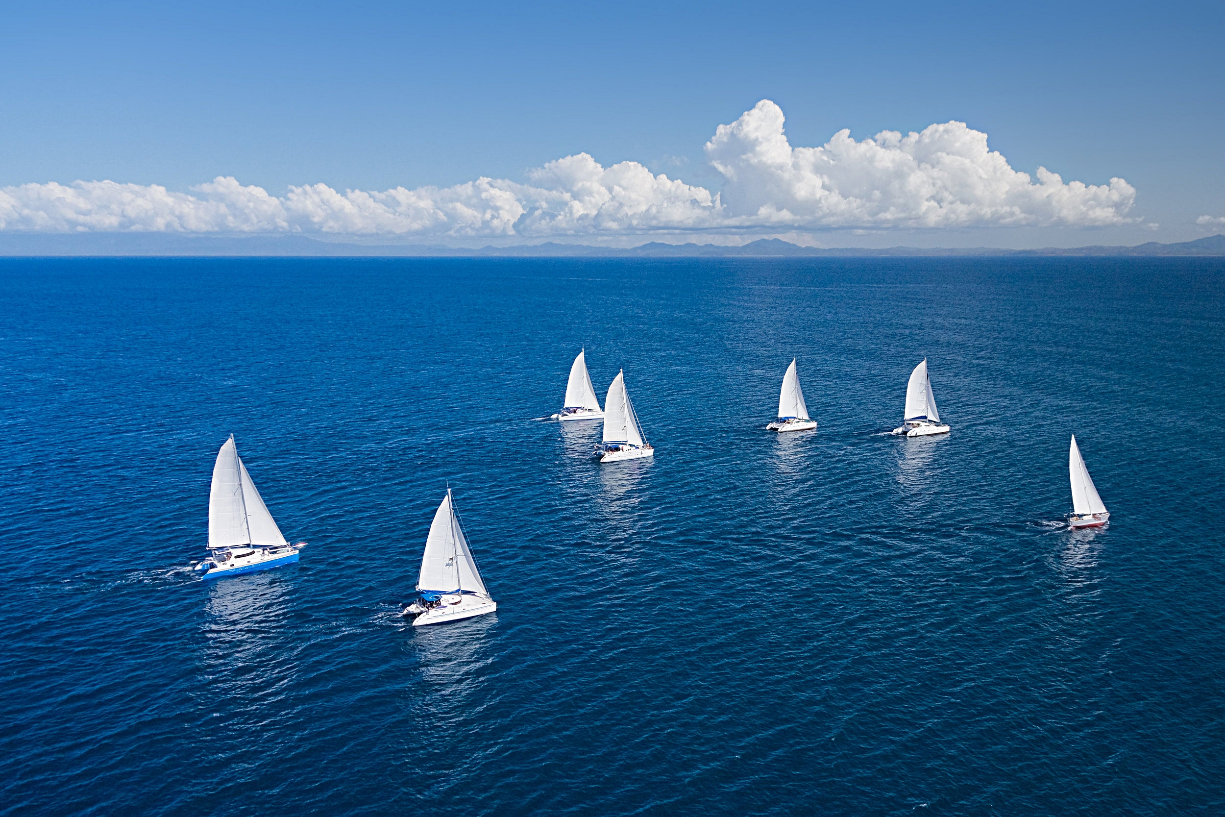 A Flotilla is a group of yachts sailing together.