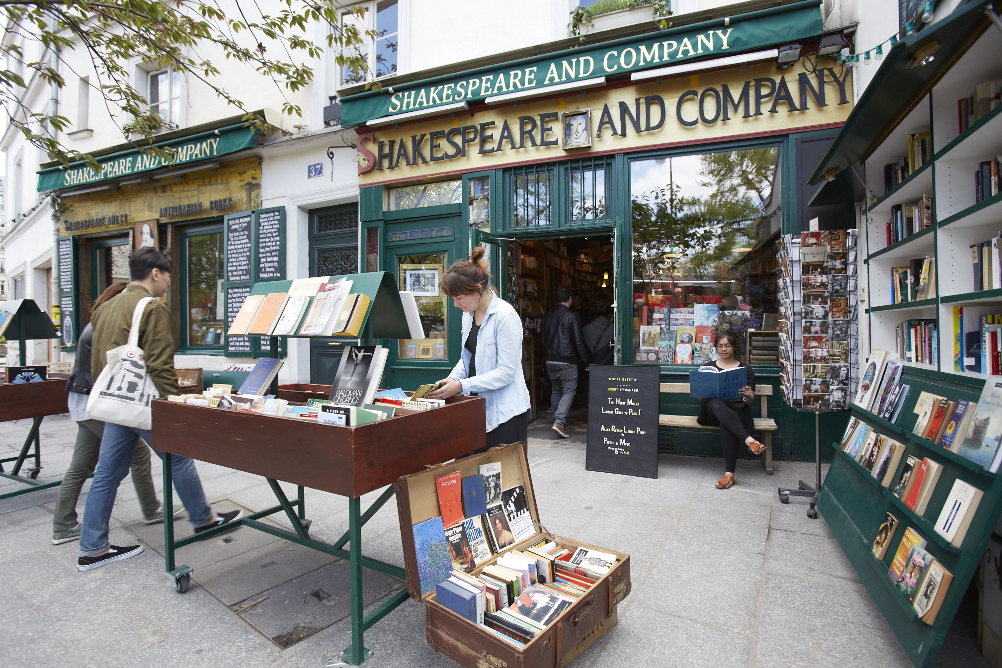 Outside Shakespeare and Company bookshop, Paris