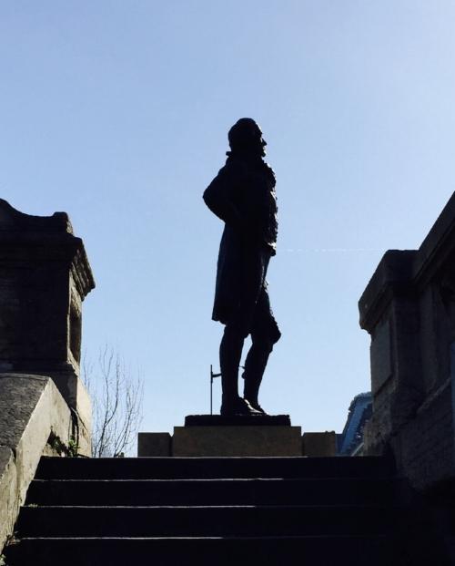 Paris Seine statue