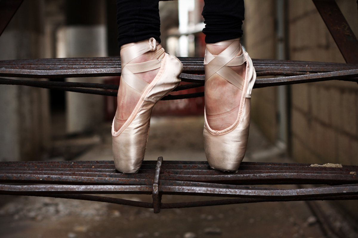 Photo of a ballerina's legs
