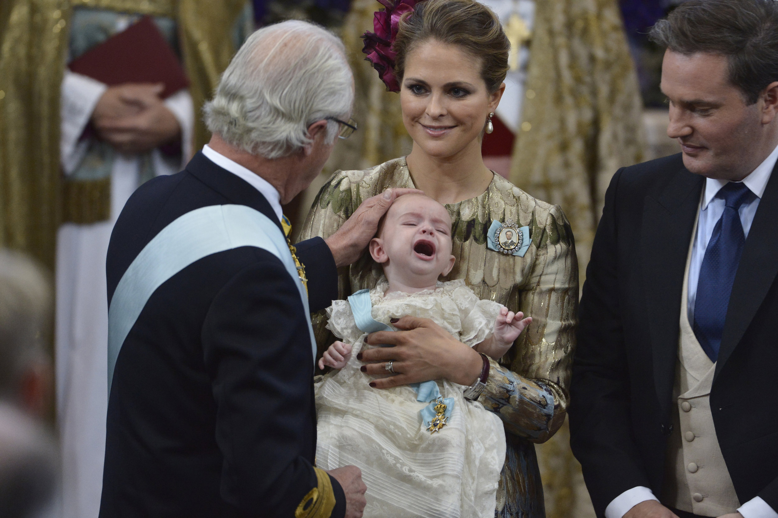 H.R.H Prince Nicolas christening in Drottningholm Palace Chapel, October 11, 2015. Photo: Jonas Ekströmer, TT