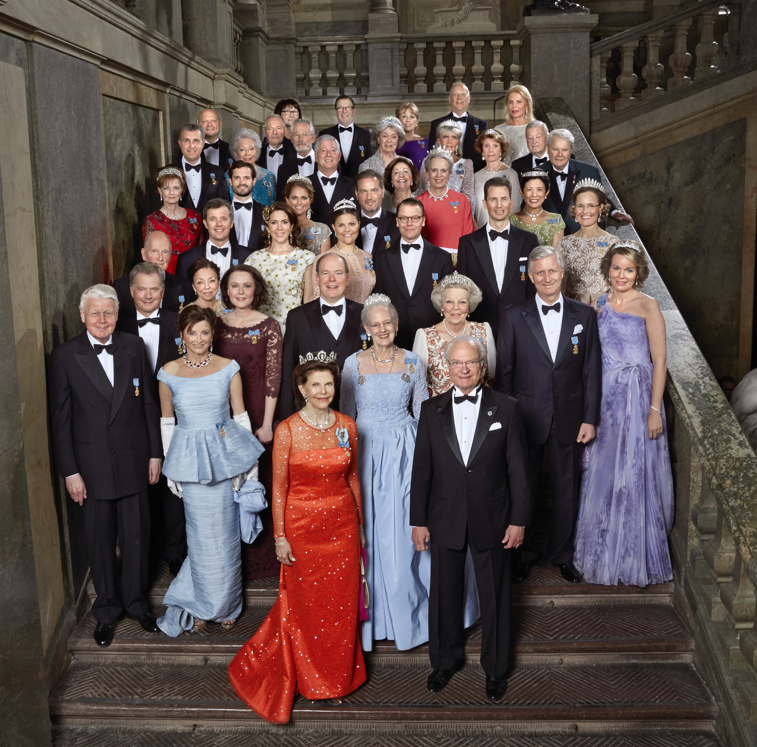 All of the guests at the banquet on April 30, 2016. Photo: Peter Knutson, Royal Court, Sweden