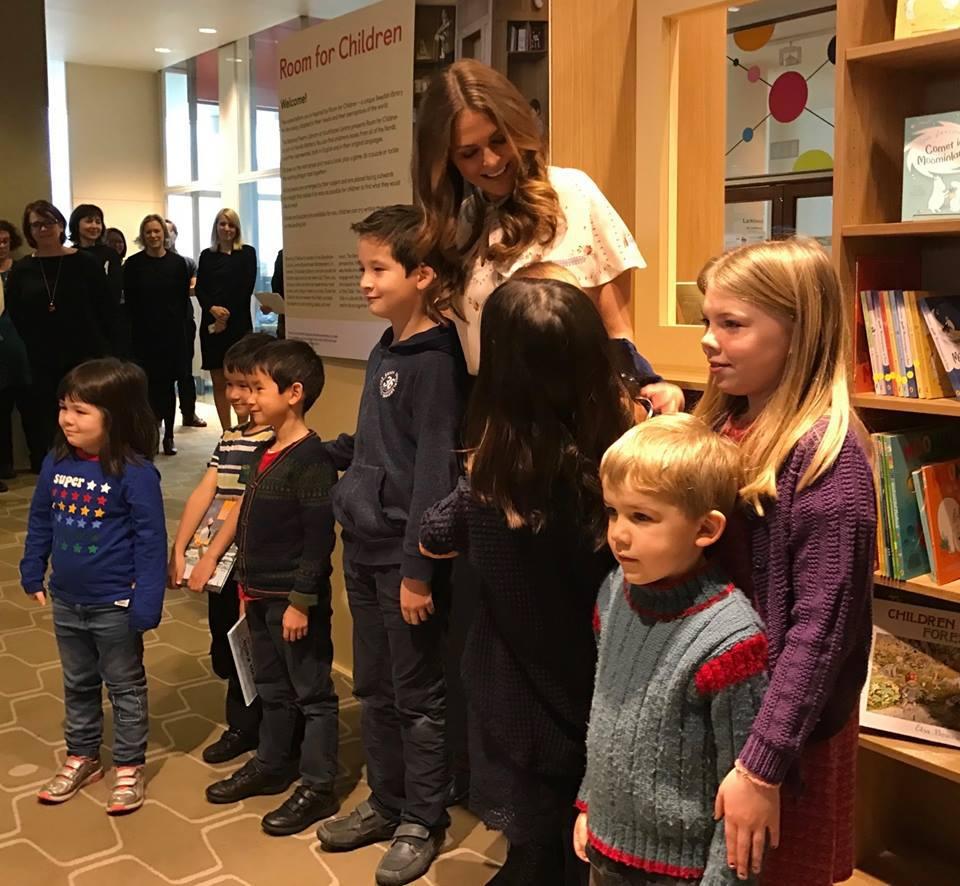 "Princess Madeleine at the ""Room for Children"". Photo: Princess Madeleine/Facebook"