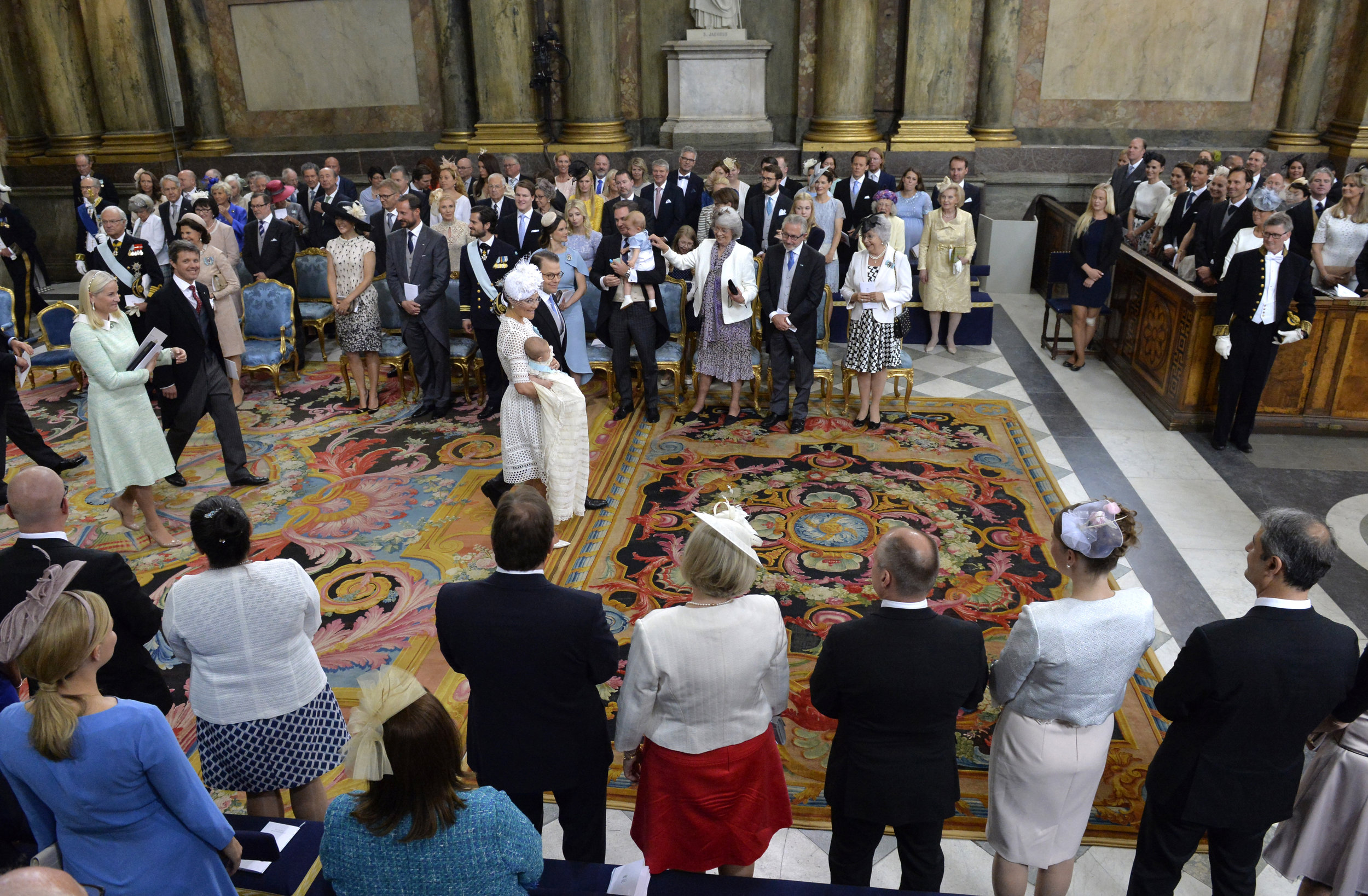 Prince Oscar's christening.Photo: Jonas Ekströmer, TT/The Royal Court, Sweden