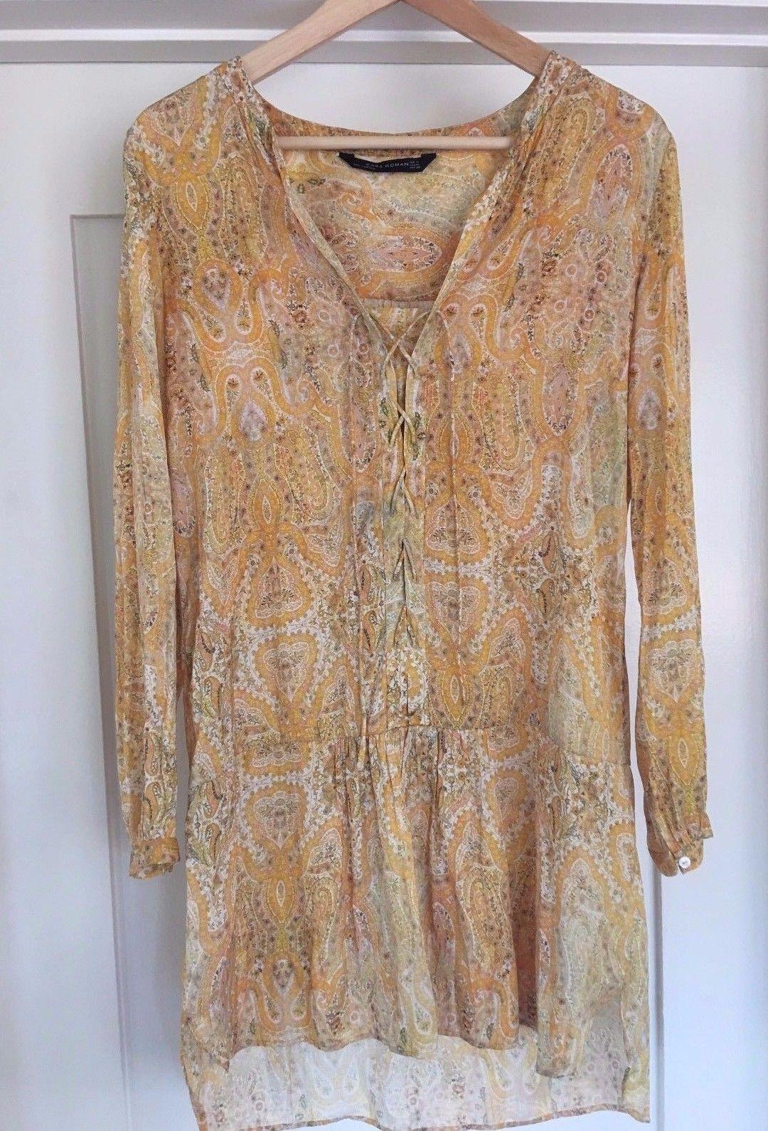 Zara-floral-paisley-dress-yellow-Size-M-boho.jpg