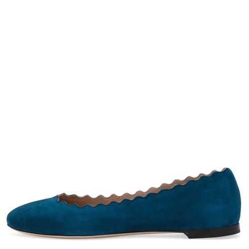 Cheap Chloe - Suede Scalloped Ballet Flats UK 308_LRG.jpg