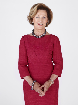 Queen Sonja - Sonja Haraldsen was born to commoner parents in Oslo on July 4, 1937. She graduated from the University of Oslo with a degree in French, English and Art History. She met then-Crown Prince Harald in 1959. They weren't given permission to marry for nine years due to her commoner background, but the Crown Prince vowed to give up the throne for her if he was not permitted to marry her.They wed on August 29, 1968, in Oslo Cathedral. Together, they have two children: Princess Märtha Louise and Crown Prince Haakon. They also have six grandchildren: Maud, Leah, and Emma Behn from Märtha Louise's marriage to Ari Behn; Marius Borg Høiby - the son of Crown Princess Mette-Marit); Princess Ingrid Alexandra and Prince Sverre Magnus through Haakon and Mette-Marit.(Photo: Jørgen Gomnæs / The Royal Court)