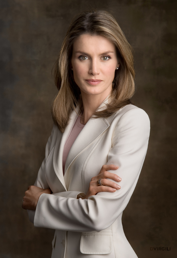 Queen Letizia - Letizia Ortiz Rocasolano was born in Oviedo,Asturias, Spain, on September 15, 1972, to Jesús Ortiz Álvarez and María Rocasolano Rodríguez. She has two younger sisters: Telma and Érika. Letizia has a degree in journalism from Complutense University of Madrid and was a successful journalist in Spain before marrying into the Spanish Royal Family.She married then Felipe, Prince of Asturias on May 22, 2004, in Madrid at the Cathedral Santa María la Real de la Almudena. They have two daughters: Leonor, Princess of Asturias and Infanta Sofía.She became the Queen of Spain upon her husbands ascension in June 2014 after the abdication of his father, King Juan Carlos.(Photo:© House of His Majesty the King / DVirgili)