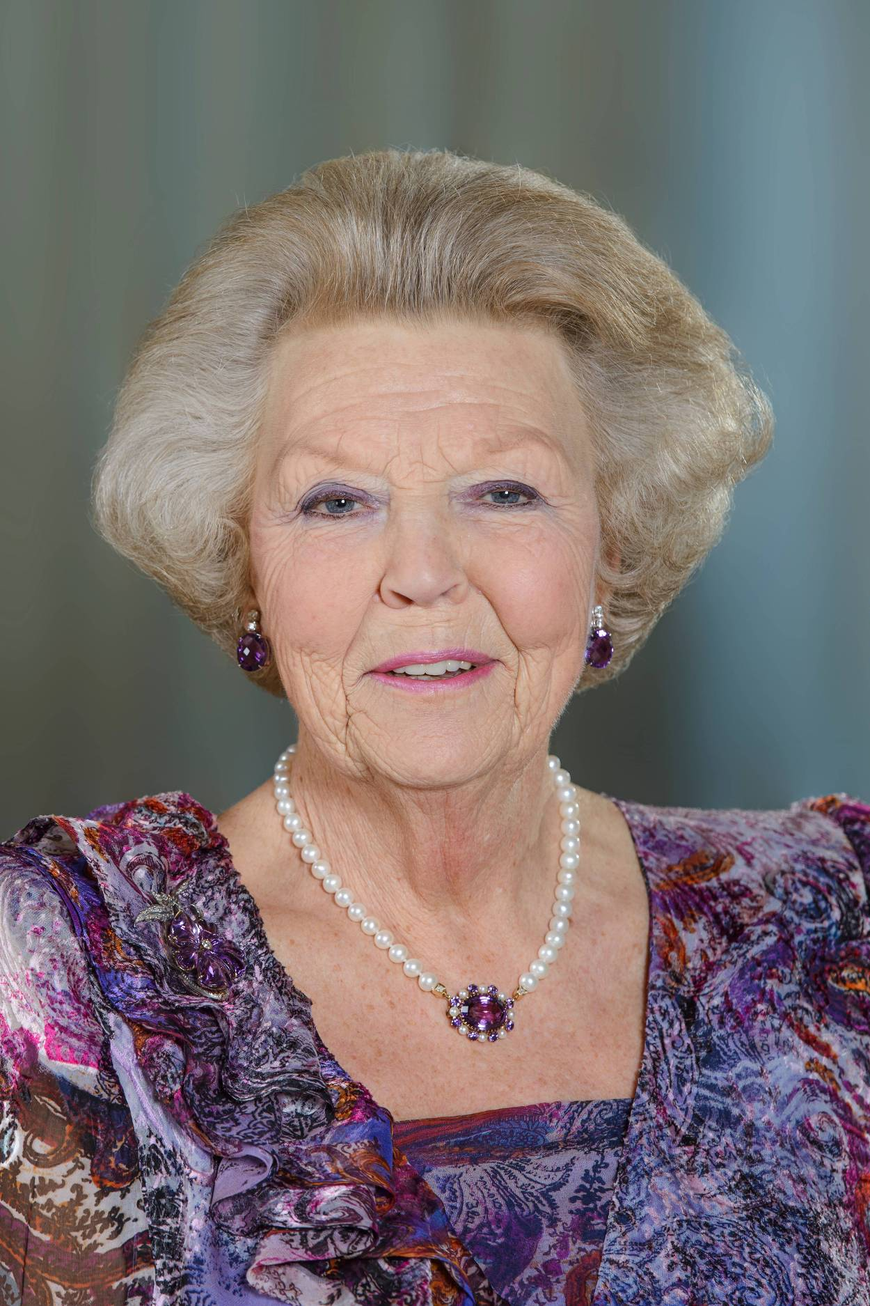 Princess Beatrix - Beatrix Wilhelmina Armgard was born to then Princess Juliana and Prince Bernhard of the Netherlands on January 31, 1938, in Soestdijk Palace. She has three sisters: Princesses Irene, Margriet and Christina.She studied at Leiden University and with European and international organisations before earning a law degree in 1961. She married German diplomat Claus von Amsberg on March 10, 1966. They had three sons: King Willem-Alexander, Prince Friso and Prince Constantijn.She became Queen of the Netherlands upon the abdication of her mother on April 30, 1980. She, in turn, abdicated in favor of Willem-Alexander on April, 30, 2013. She reverted back to the title of Princess of the Netherlands upon his ascension.(Photo:Jeroen van der Meyde/RVD)