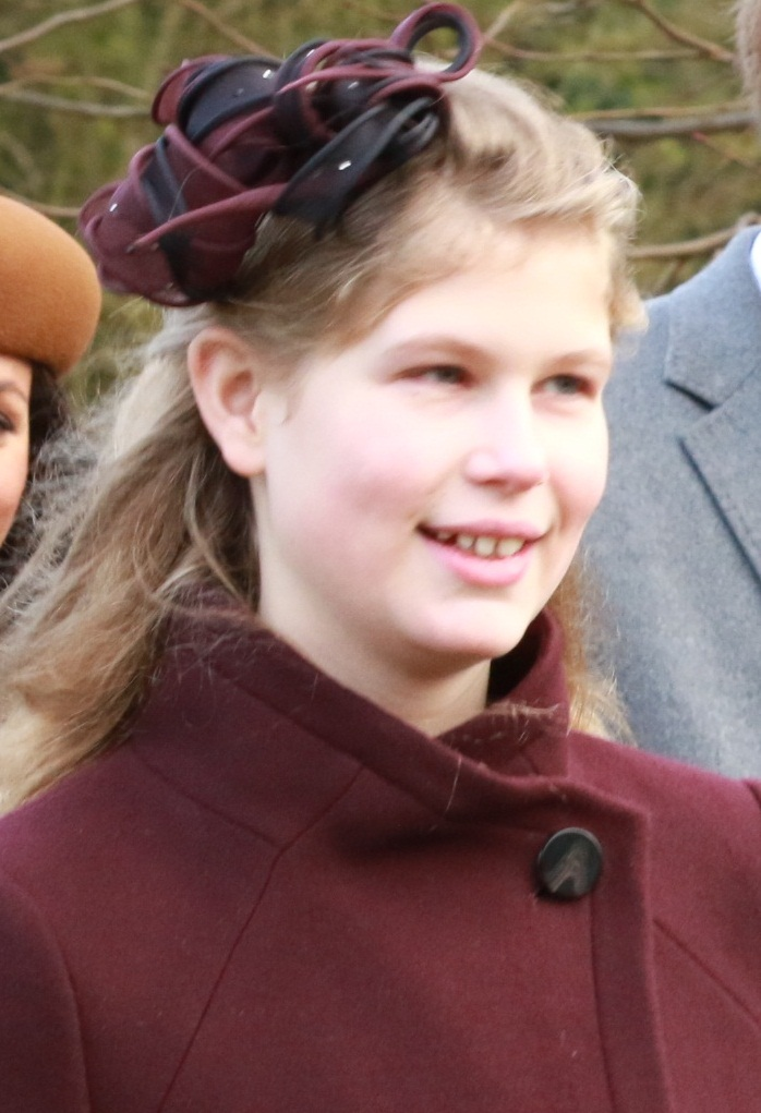 Lady Louise - Lady Louise Windsor was born on November 8, 2003, to the Prince Edward, Earl of Wessex and Sophie, Countess of Wessex. She's the youngest granddaughter of Queen Elizabeth and Prince Philip.She has a younger brother, James, Viscount Severn.Louise served as a bridesmaid in Prince William's 2011 wedding to Catherine Middleton. She is a member of the UK's Girl Guides (like Girl Scouts in the US).Photo: Mark Jones/CC/Flickr