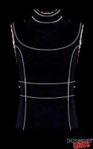 Prada SS15 Black Top Stitch Sleeveless Blouse.png