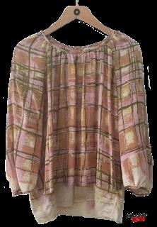Rützou Silk Multicolor Window pane blouse.png