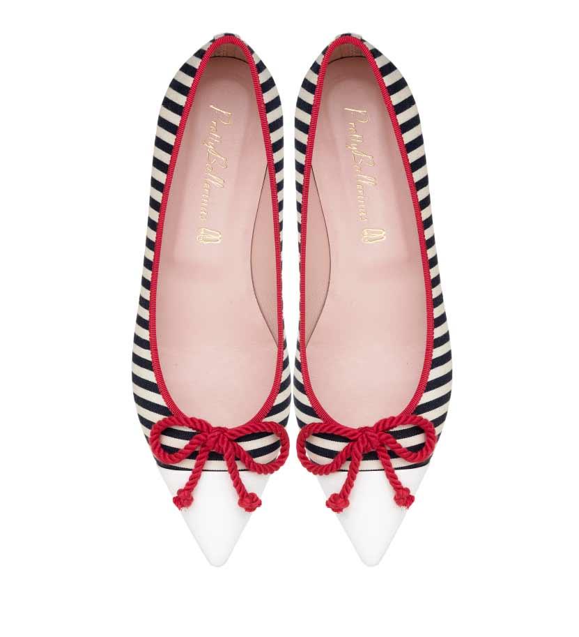 Pretty Ballerinas Ella ballerina striped shoes MO.jpg