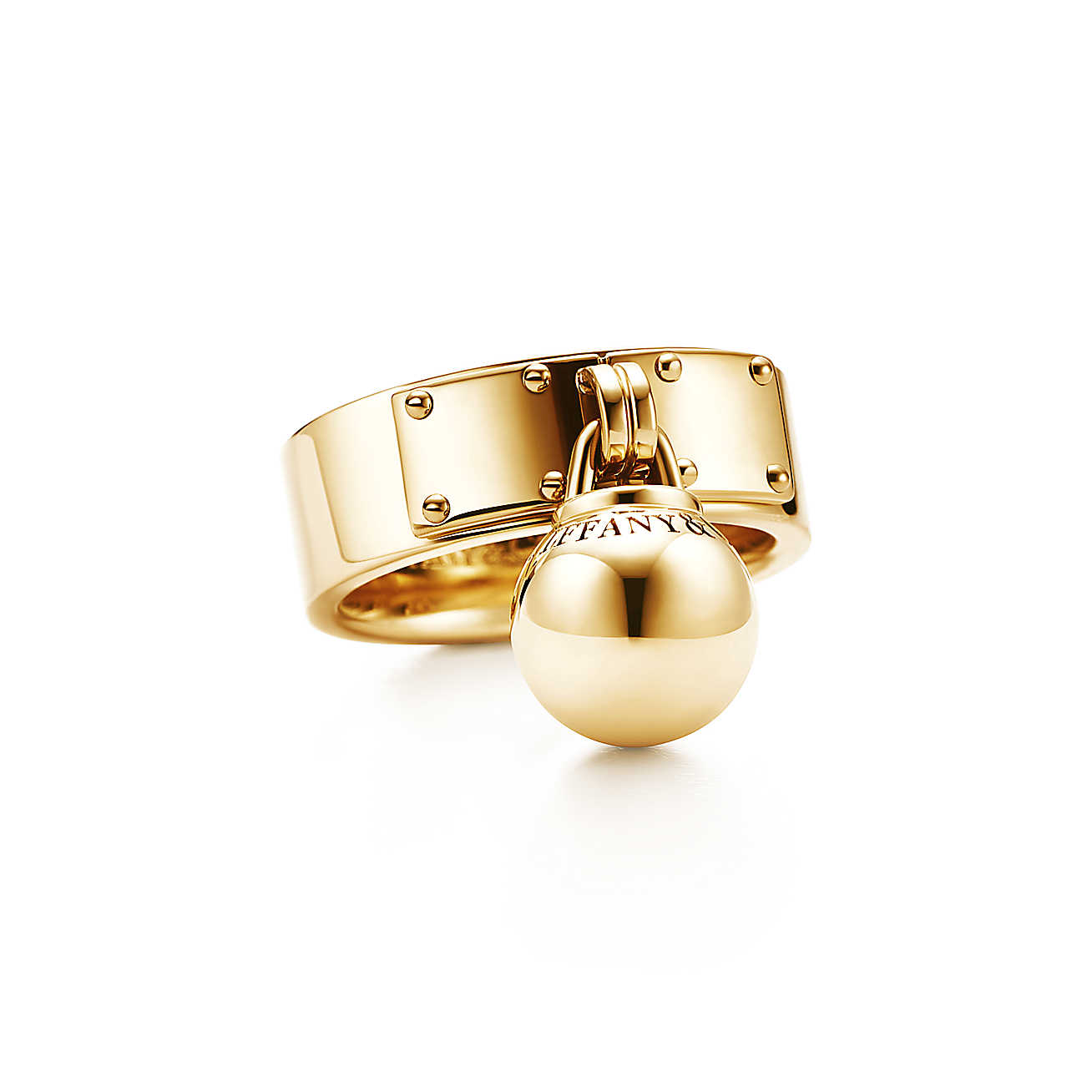 Tiffany HardWear Ball Dangle Gold ring.jpg