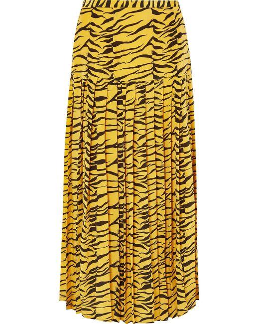 rixo-zebra-print-Tina-Pleated-Tiger-print-Silk-Crepe-De-Chine-Skirt.jpeg