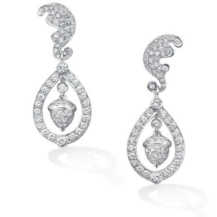 Robinson Pelham Diamond Acorn wedding earrings Kate.jpg