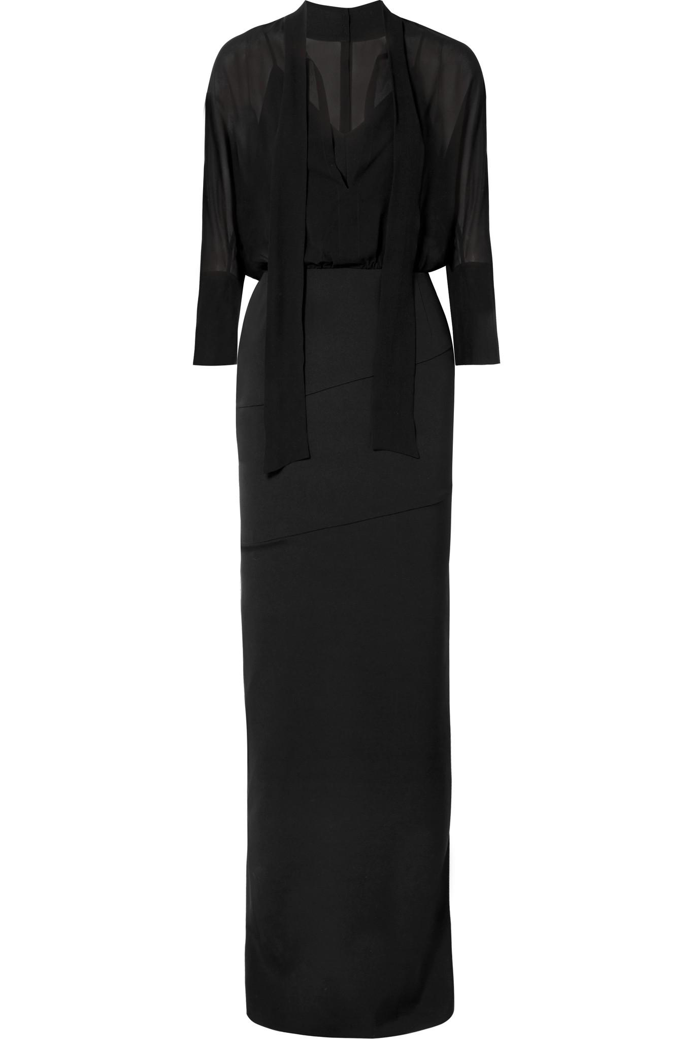 akris-black-Pussy-bow-Stretch-silk-Crepe-And-Georgette-Dress.jpeg