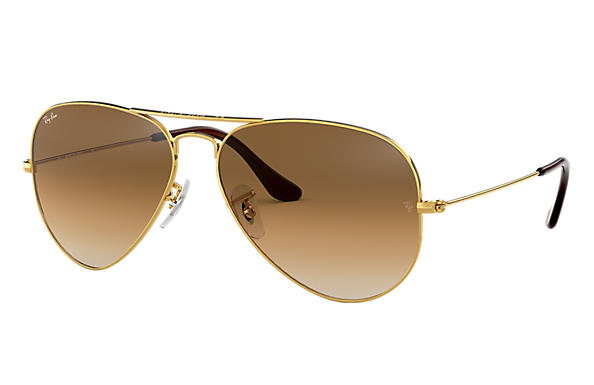 Ray-Ban 3025 Aviator Sunglasses in Gold with Light Brown Gradient.jpg