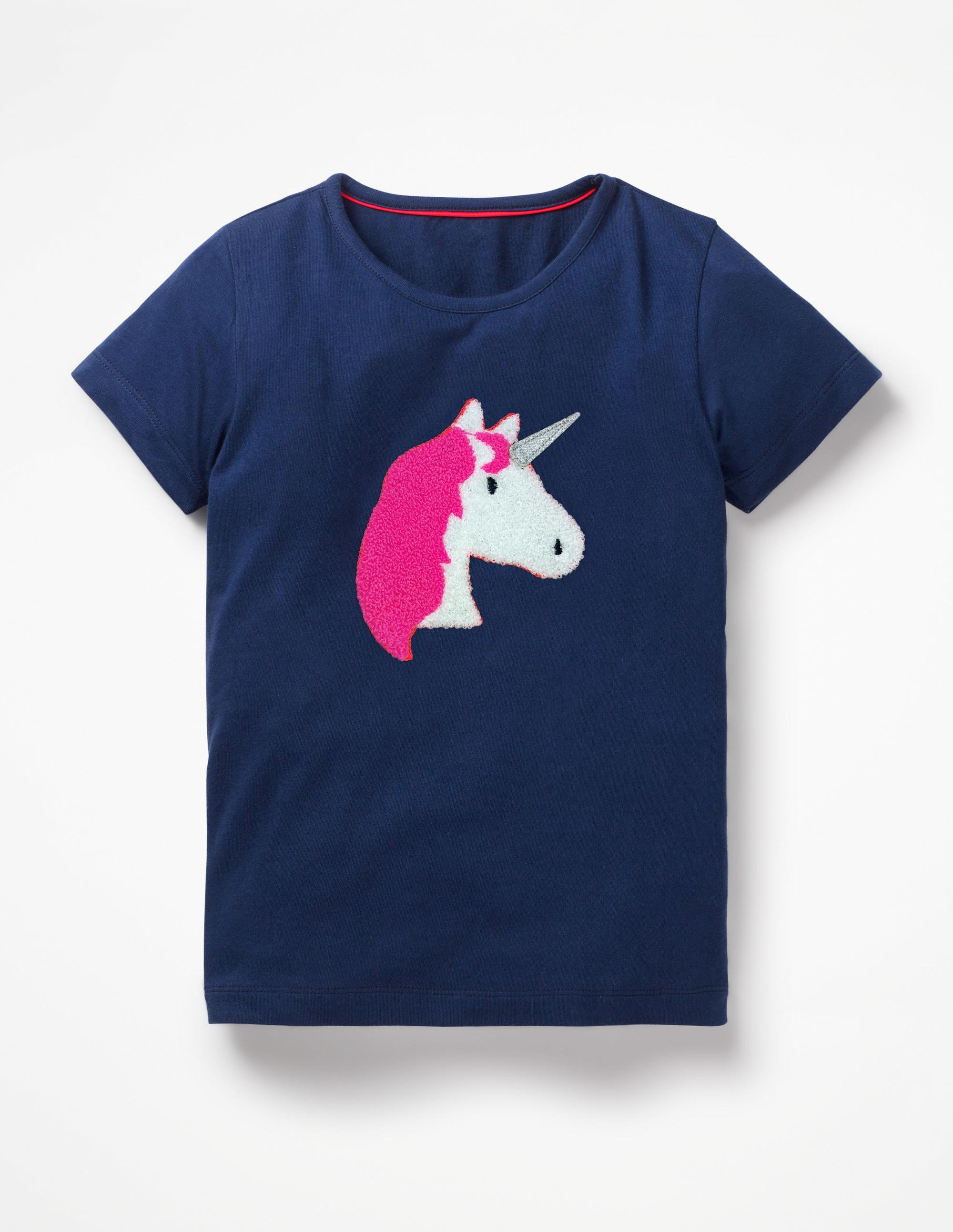 Mini Boden Bouclé Appliqué T-Shirt with College Blue Unicorn.jpg