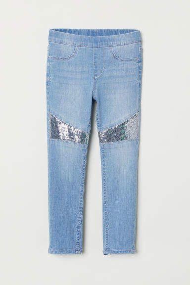 H&M Denim Leggings with Sequins.jpg