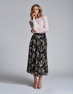 Andiata Printed Midi Skirt