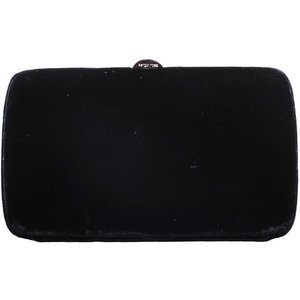 Sergio Rossi Compact Clutch in Black Sequins
