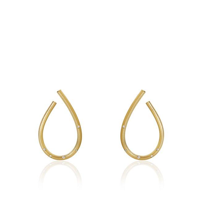 Dulong Fine Jewelry Gold Kharisma Earrings with Diamonds