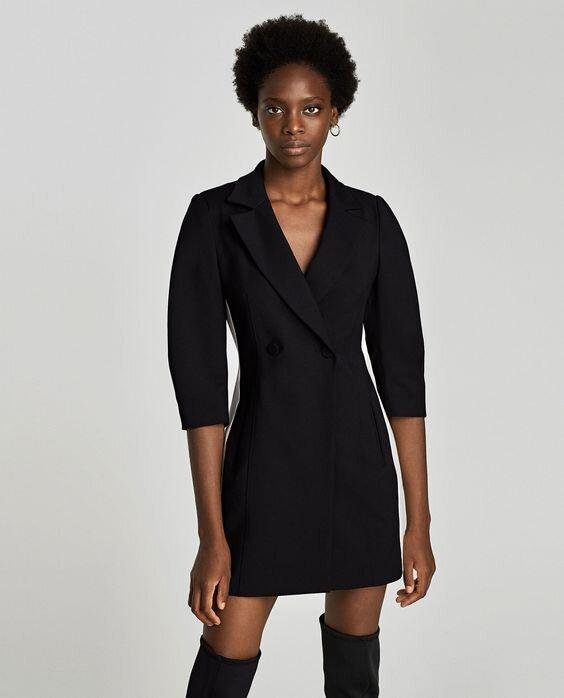 Zara Blazer Dress with Stripe Detail.jpg