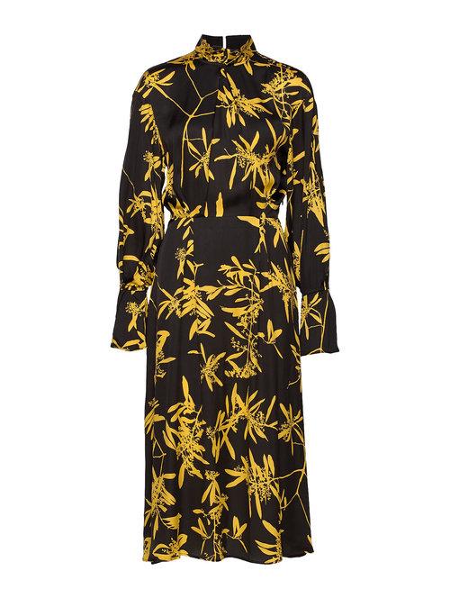 House of Dagmar Dora Dress in Gold Flower