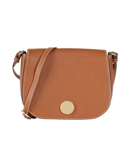 Little Liffner Medium Saddle Bag in Tan Leather