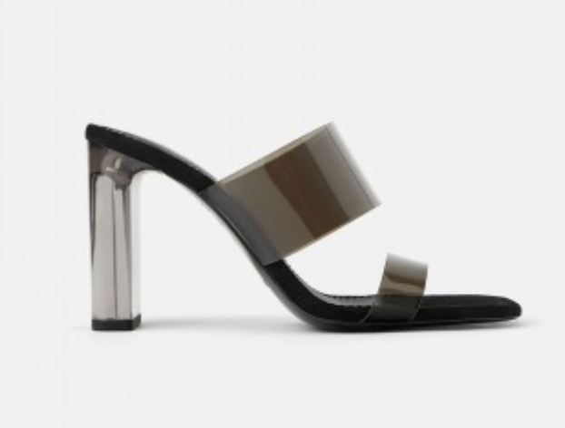 Zara Vinyl Sandals in Black — UFO No More
