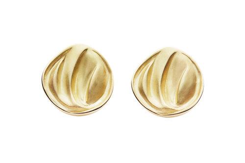 Rebekka Notkin Carved Earrings in Gold