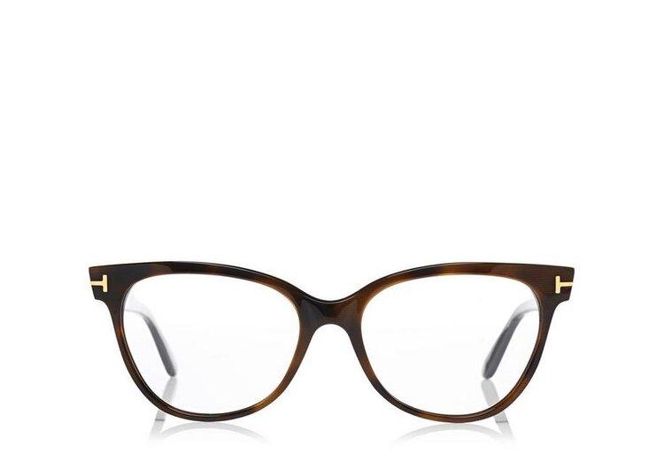 Tom Ford FT5291 Cat-Eye Optical Frame Glasses in Dark Havana