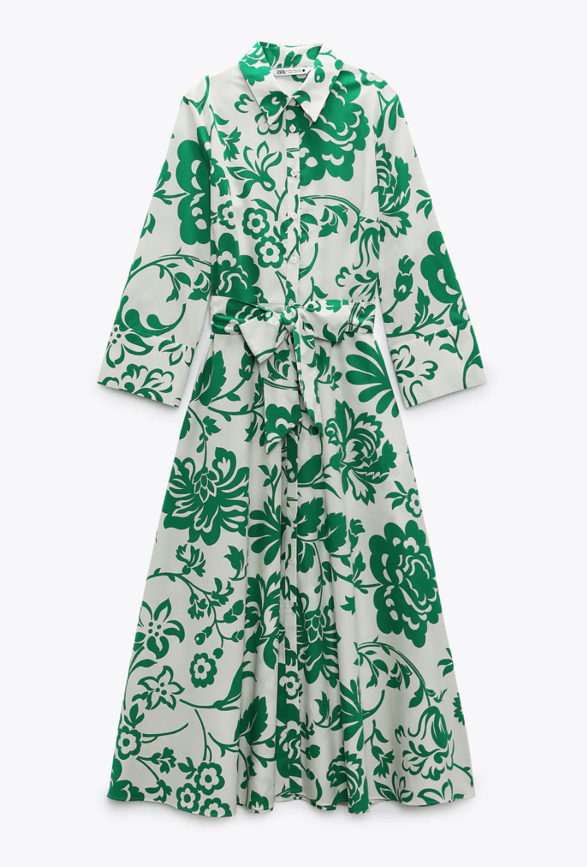 Zara Printed Poplin Dress — UFO No More