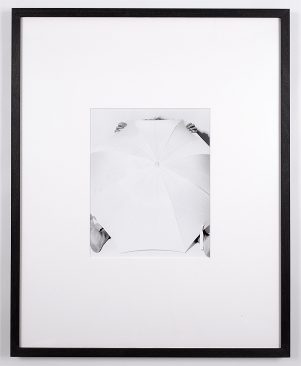 Cropped Set, Strobe Diffusion,  2015, gelatin silver print, 24 x 30 inches framed