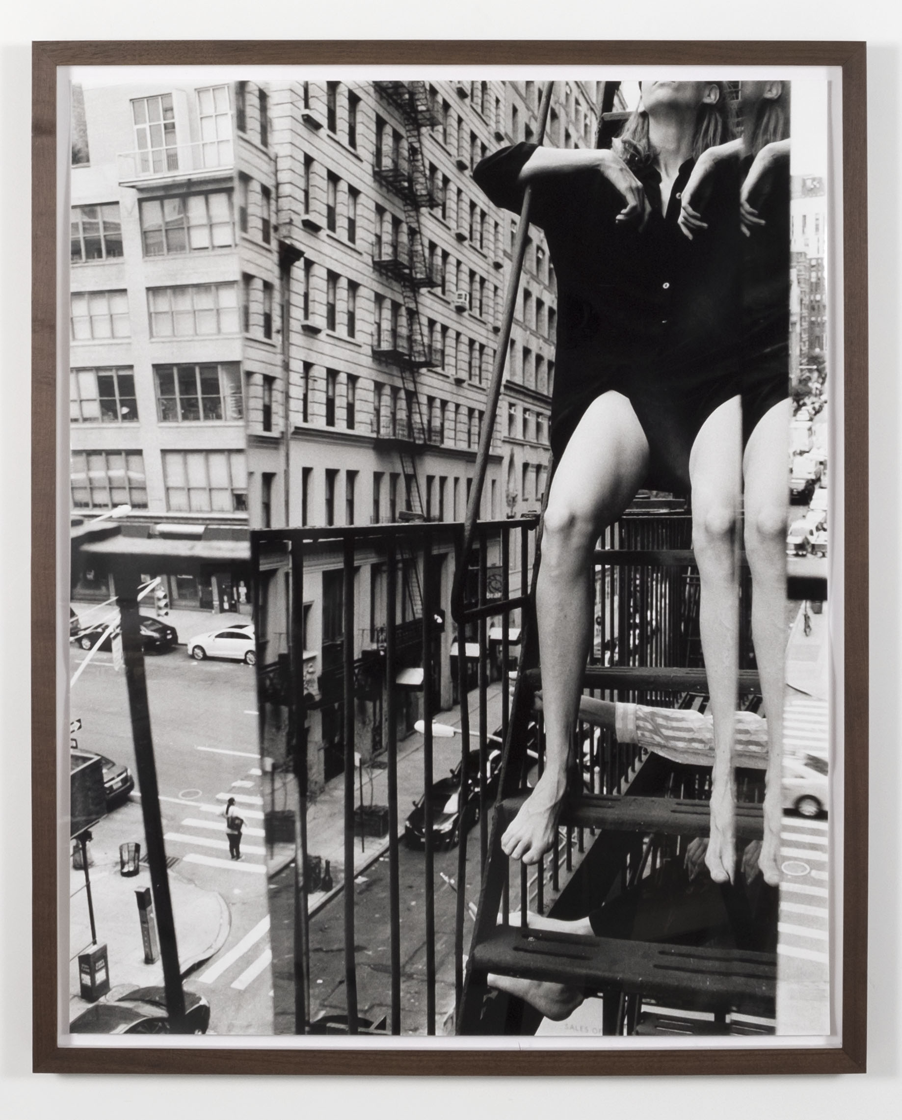 Claudia on Fire Escape , 2018, gelatin silver print, 26 x 32.5