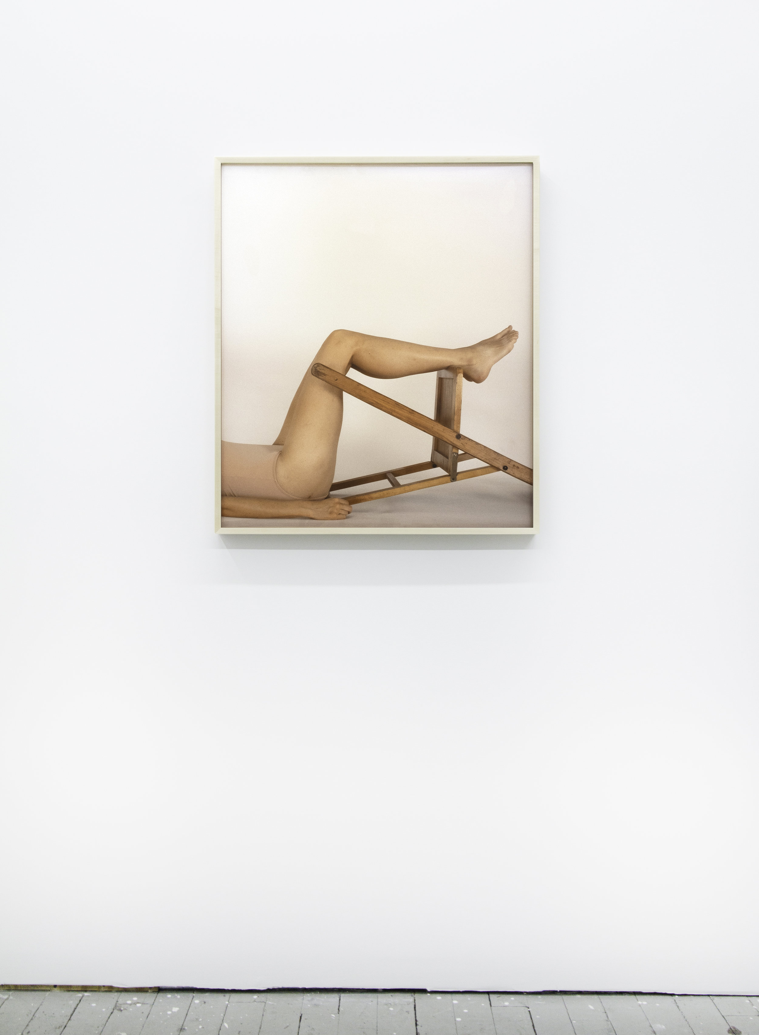 Legs and Chair (Armature) , 2019, archival pigment print, 28.5 x 33.5 inches