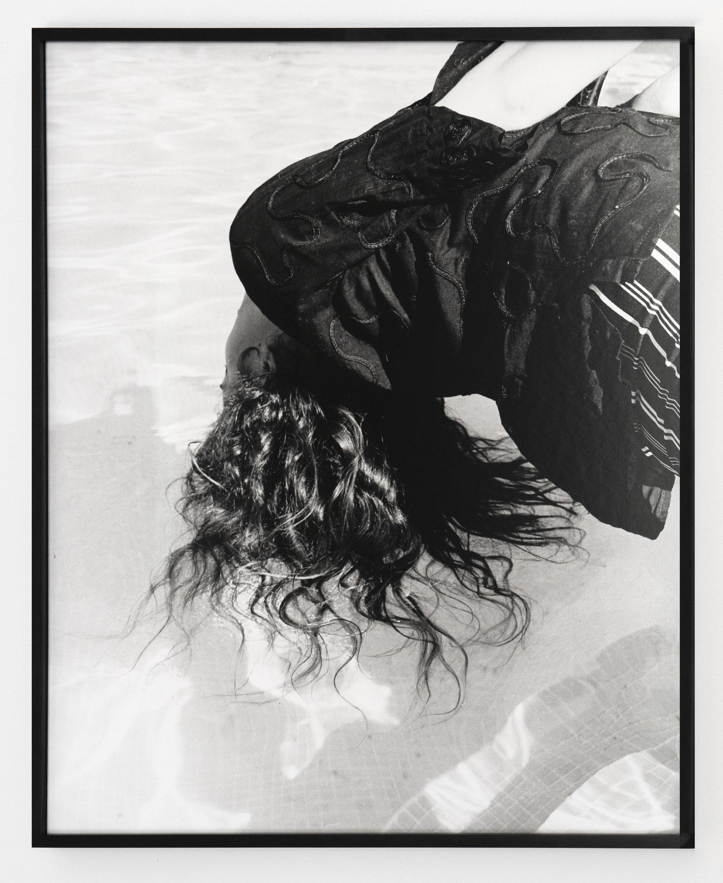 Hair in Pool , 2019, gelatin silver print, 20 x 24 inches