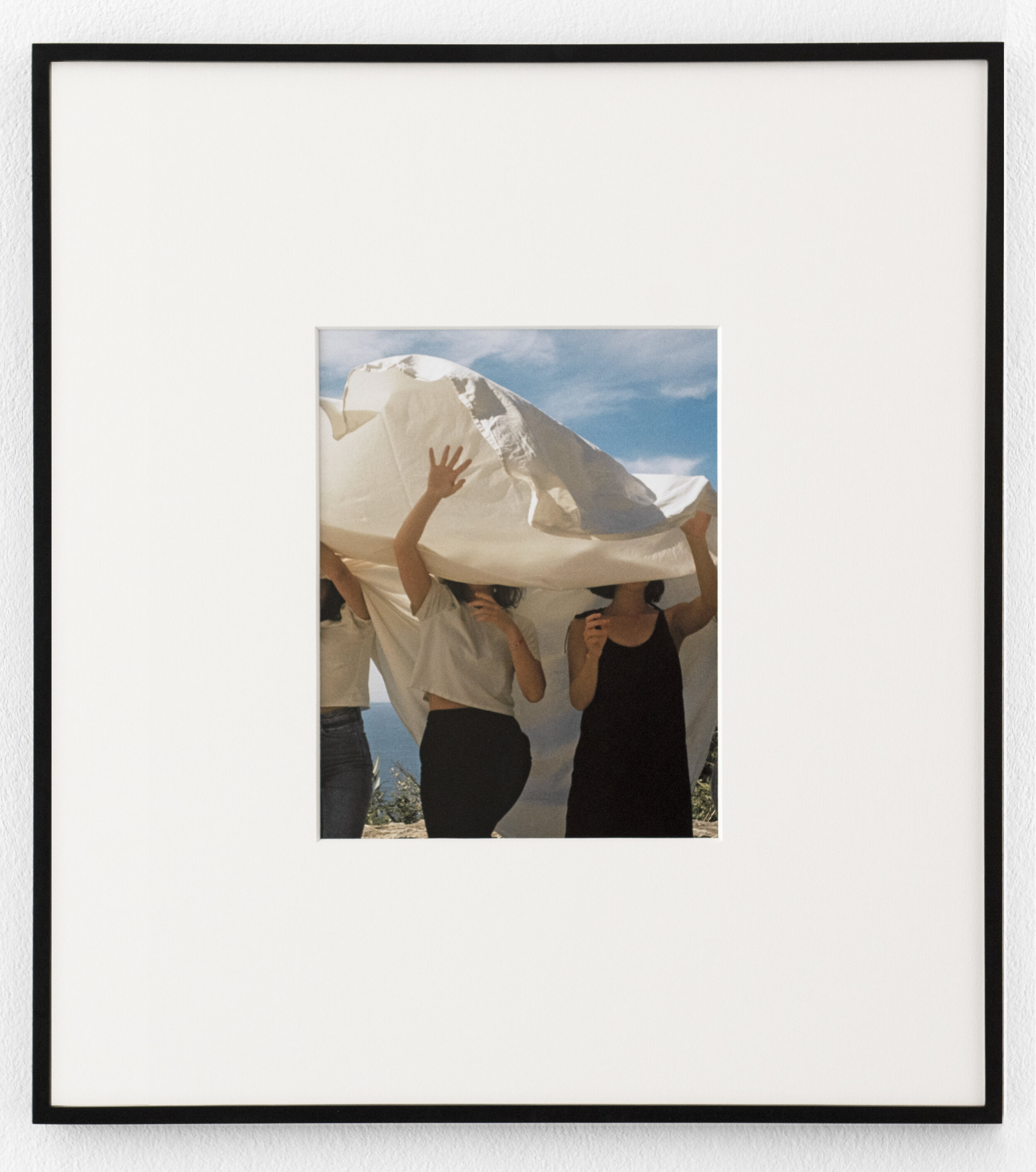 Women with Sheet,  2019, Archival pigment print, 9 x 11.5 inches (unframed)