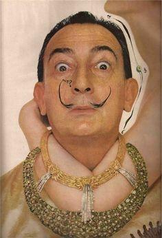 Salvador Dali and friend