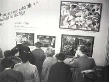 Degenerate Art exhibition, Munich 1937, news photo