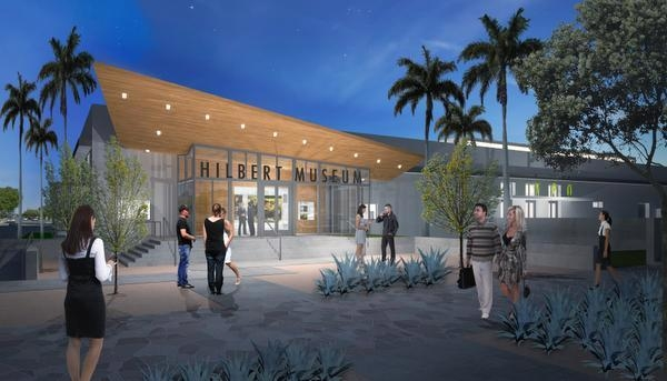 Artist's rendering of the Hilbert Museum of California Art, to be completed 2018