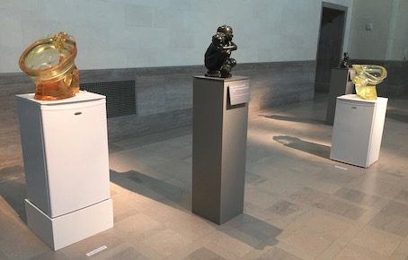 Lucas  Floppy Toilet s flanking Rodin's  Fallen Carytid Carrying an Urn  (after 1900)