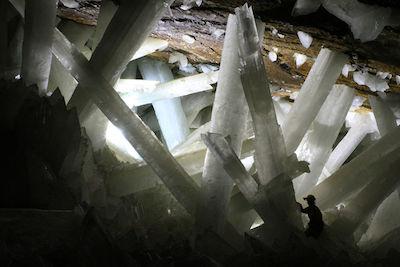 Selenite crystals, Naica Cave, Mexico