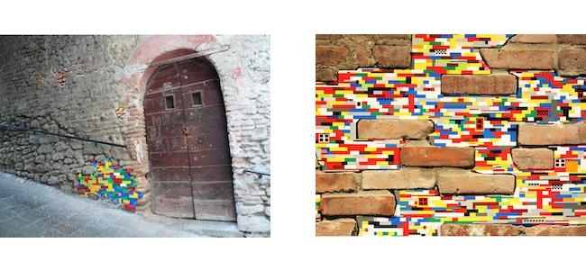 Jan Vormann, installations of plastic construction brick