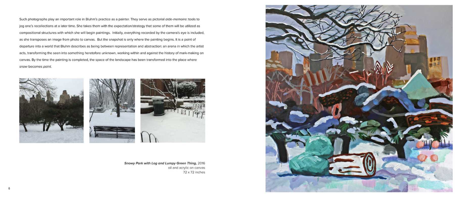 Catalogue excerpt, Susanna Blum at G. Gibson Gallery, Seattle WA 2016