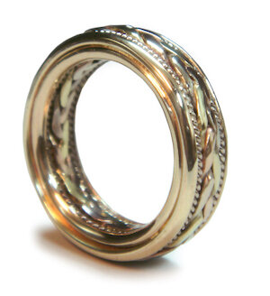 The two rings joined together