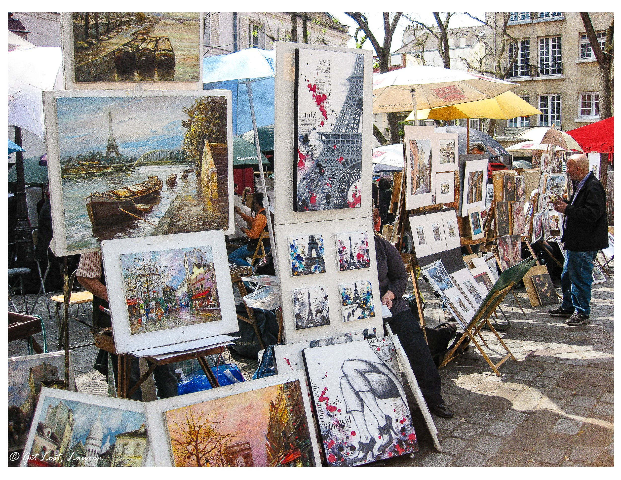 Place du Tertre, home to many artists hoping to sell you a painting or two.