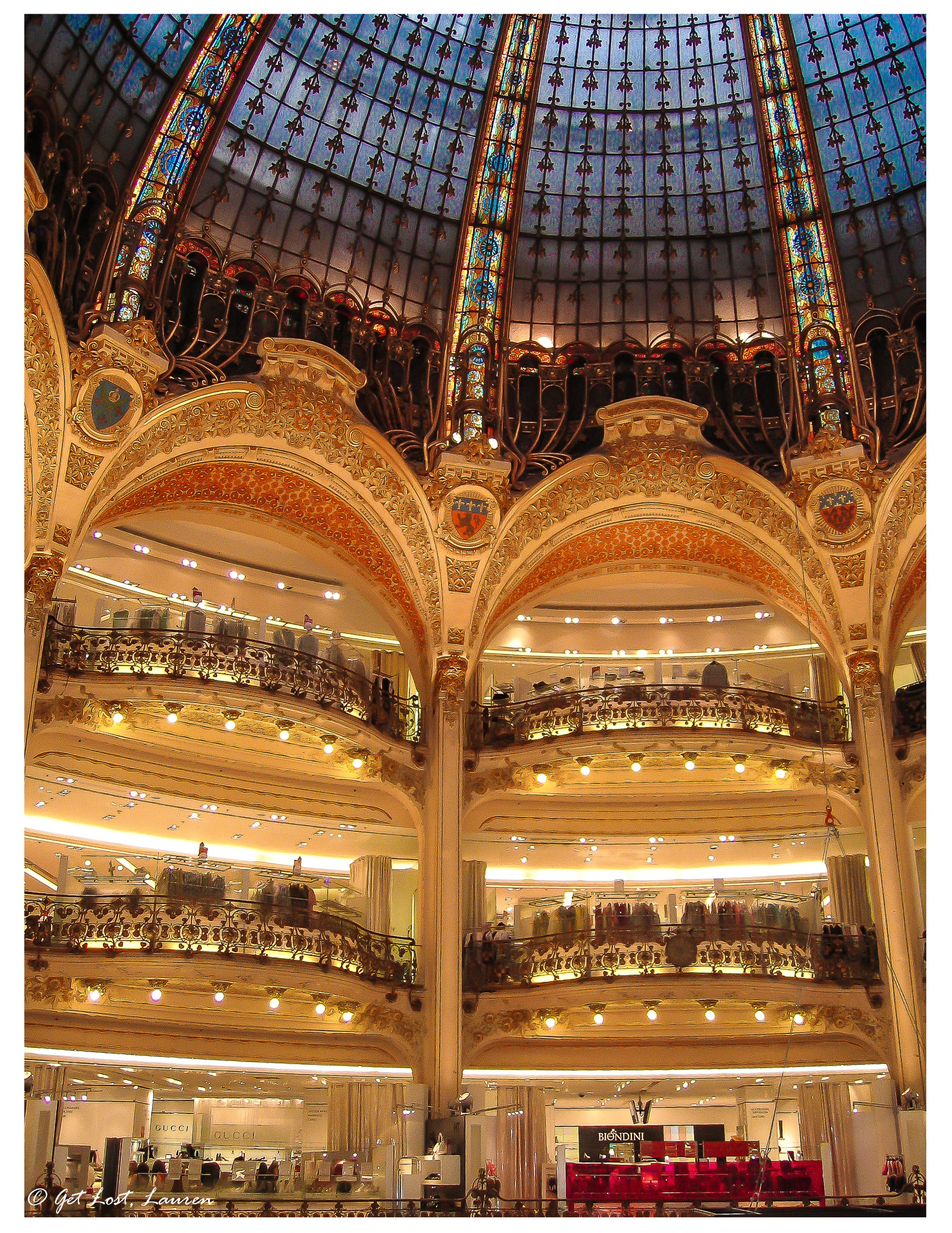 Even if you aren't a shopper, the dome in Galeries Lafayette is worth a look.